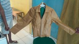 Jaqueta de couro sintético chamar no zap 74988594155