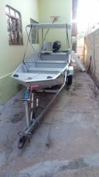 Embarcação Canoa em alumínio 5 m completa - 2014