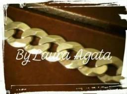 Leia todo o anúncio. pulseira prata 950 italiana maciça