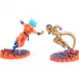 Goku God Blue E Golden Freeza - Dragon Ball Super Action