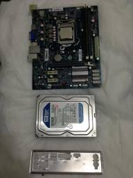 Kit Placa Mãe + Pentium G470 + 2GB DDR3 + HD 320GB