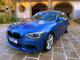 BMW M125i - Cor: Azul Estoril - apenas 50 mil km rodados - 2014 - Couro - Teto solar - 2014