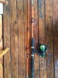 Molinete completo com vara