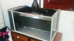 Aquário 150 litros com filtro sexto vidro