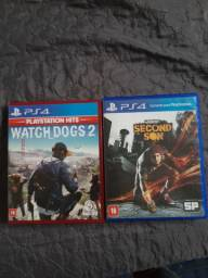 Ps4 Watch Dogs 2 e Second son Infamous