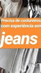 Precisa de costureiro(a)somente com experiência em jeans