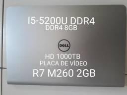 Notebook para autocard i5-5200u 8gb hd 1000gb placa de vídeo r7 m260 2gb dedicada!!