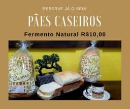 Pão Caseiro, fermentação 100% Natural
