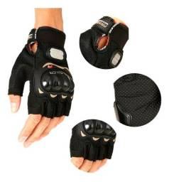 Luvas Para Motocilista e Ciclista ProBike com Proteção Meio Dedo <br>
