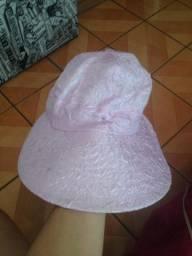 Chapéu de praia rosa