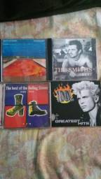 Cds Red Hot Chille Pera, The Smiths, Rolling Stonnes e Billy Idol