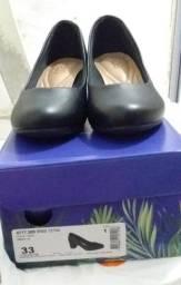 Sapato Beira Rio Napa Turim Preto tamanho 33