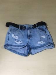 Short Jeans cintura alta 44