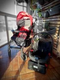 Carrinho de bebê Burigoto+ bebê conforto + ninho