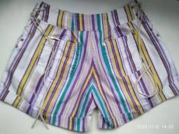 Leia o Anúncio!!! Shorts Jeans Feminino Listrado. Tamanho 38