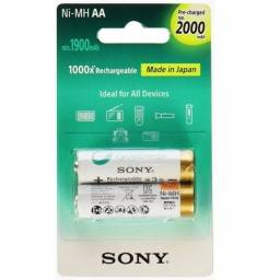 Pilha Sony Recarregável Aa 2000mah C/2 Unidades - Loja Natan Abreu