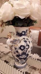 Maravilhoso Vaso Antigo de Porcelana Esmaltado