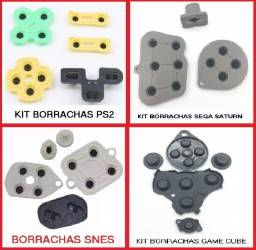 Kit de reposição de borrachas para diversos controles