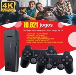 Video Game Stick 4k 10 mil jogos jogos do super nintendo mega drive atari fliperama