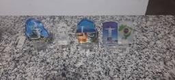 Objetos de decoração de vidro novinho na caixa