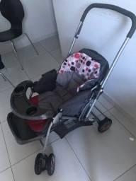 Carrinho de Bebê Cosco Travel System Reverse + Bebê Conforto