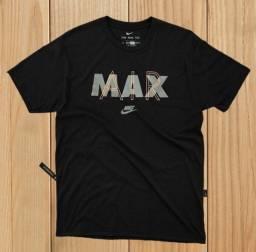 Camiseta Preta Masculina Nike Air Max 100% Algodão