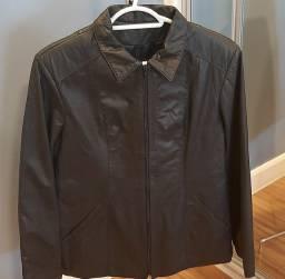 Jaqueta de couro natural feminino tamanho M