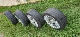 Título do anúncio: Rodas 17 pneu de 205.40.17