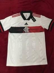 R$ 140 Camisa Flamengo Branca 20/21- Mesma Fábrica das originais, qualidade Perfeita