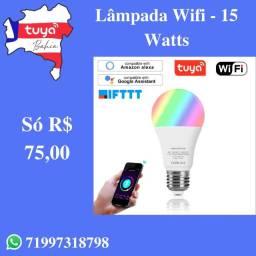 Lâmpada Smart Tuya RGBW - 15 Watts - Super Potente!