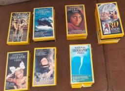 Fitas VHS originais Nacional Geographic  de 1982 a 1996