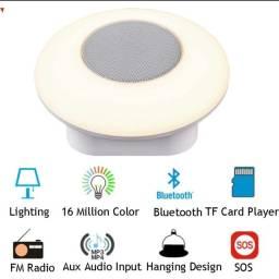 Luminária Touch Bluetooth c/ alto-falante FM MP3