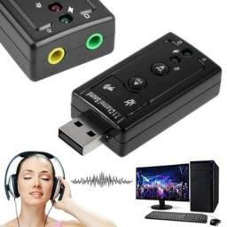 Título do anúncio: adaptador de áudio USB