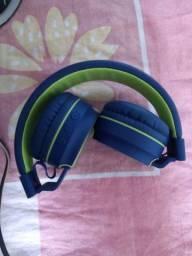 Fone de Ouvido Headphone Pulse com Bluetooth Azul/Amarelo -PH217