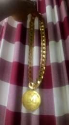 8e2eb9f070d Vendo cordão de prata banhado a ouro