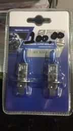 Lampada h1 super branca o par garantia grátis instalação