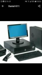 Kit pdv computador, impressora 58mm, gaveta gd36, leitor, sistema de automação comercial