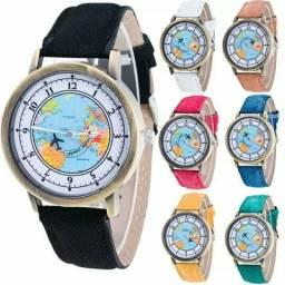 Relógios com mapa