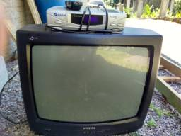 """Tv 20"""" + receptor parabólica"""