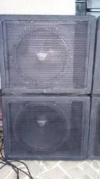 """Compro carcaças de subs oversound 18"""" 800 Pró"""