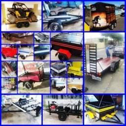 Carretinhas Reboque para transportar todo tipo de carga,equipamentos,maquinas auto motores