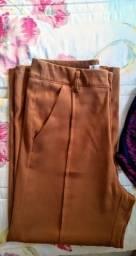 Calça pantalona croped