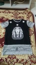 Camiseta longa Last kings tam m