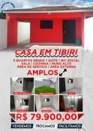 Casa em tibiri vendo, troco, financio e facilito