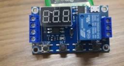 Modulo Temporizador Relé 5v-30v Dc Ajustável Até 999 Minutos