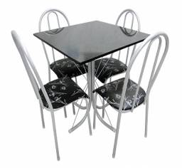 Promoção de Conjunto de Mesa 4 Cadeiras Perfeita para Ambientes Pequenos(Entrego e Monto)