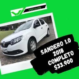 Sandero 1.0 Completo 2018