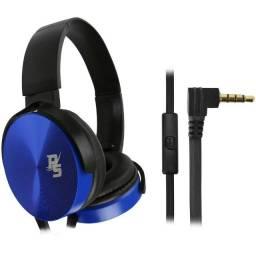 Fone de Ouvido Nêmesis Essential Flat com Microfone - Azul