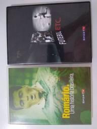 2 DVDs Romário uma história brasileira e Futebol,etc