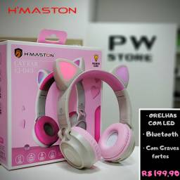 Headphone bluetooth orelhas Led - Loja PW STORE